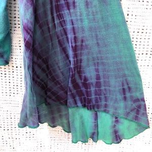 Free People Tops - FREE PEOPLE Green Boho ASHBURY Tie Dye Jersey Top